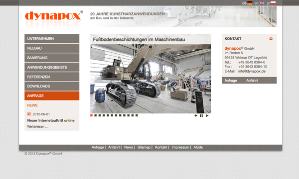 dynapox website screenshot